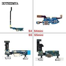 купить Charging Port Dock For Samsung Galaxy S4 S5 Mini i9505 i9500 i9192 i9195 G800F G900F USB Charger Flex Connector Replacement дешево