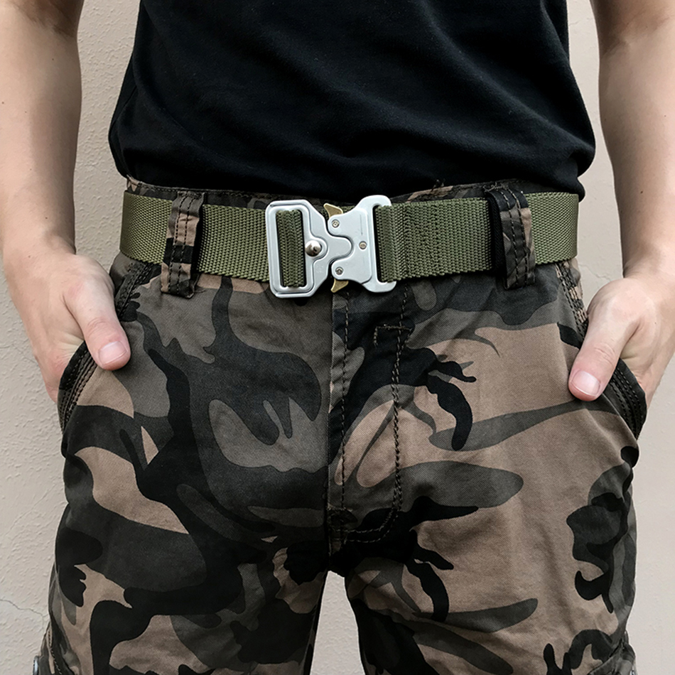 belt   male /tactical   belt   men's canvas   belts   metal insert buckle military nylon training   belts   army for Men male strap jeans