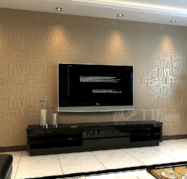 Modern Alphabet Wallpaper Waterproof Embossed Background