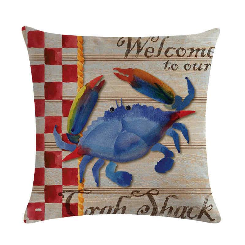 45 cm * 45 cm Antike marine organismen design leinen/baumwolle werfen kissen deckt couch kissen abdeckung home dekorative kissen