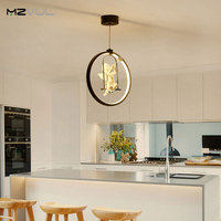 Nordic Style Creative Angel LED Pendant Light 3 Colors Adjustable Creative Personality Restaurant Light Bedroom Hanging