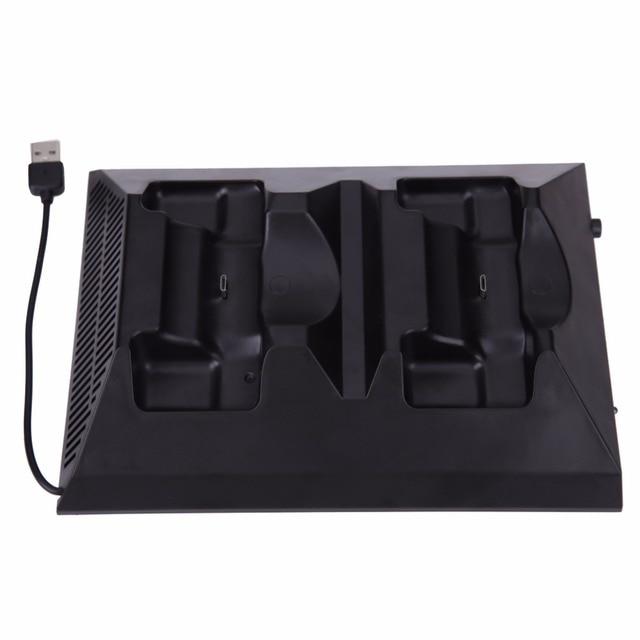 Новый 4 В 1 Ручка Acooling Вентилятор Сиденья Зарядное Двойной Контроллер Зарядки зарядное устройство С 4 USB Для XBOX ONE Игра Аксессуары + Коробка Подарка