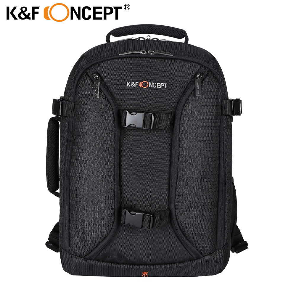 K&F CONCEPT Waterproof Digital DSLR Backpack Photo Padded w Rain Cover 14 Laptop Multi-functional Camera Soft Bag Video Case caden n5 camera backpack video dslr slr case canvas multi functional camera bags with tripod belt rain cover