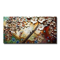 Artist Painted Knife White Flower Painting Living Room Wall Decor Hand Painted Wall Pictures On Canvas