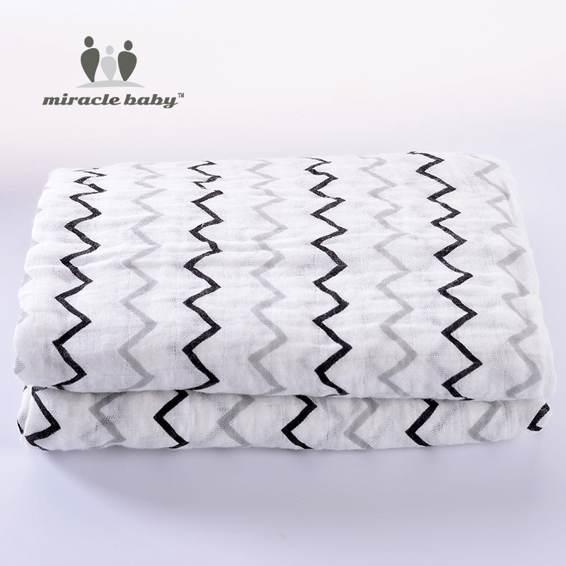100% algodón de muselina envuelve para Newbron Baby Blankets ropa de - Ropa de cama