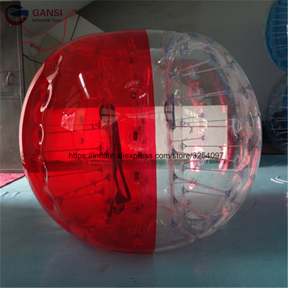 1.0mm PVC inflatable soccer bubble ball high quality human size hamster ball lows price inflatable zorb ball with free air pump
