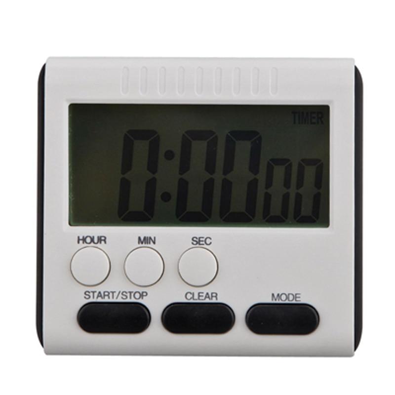 best square magnetic large lcd digital kitchen timer count up down alarm cloc. Black Bedroom Furniture Sets. Home Design Ideas