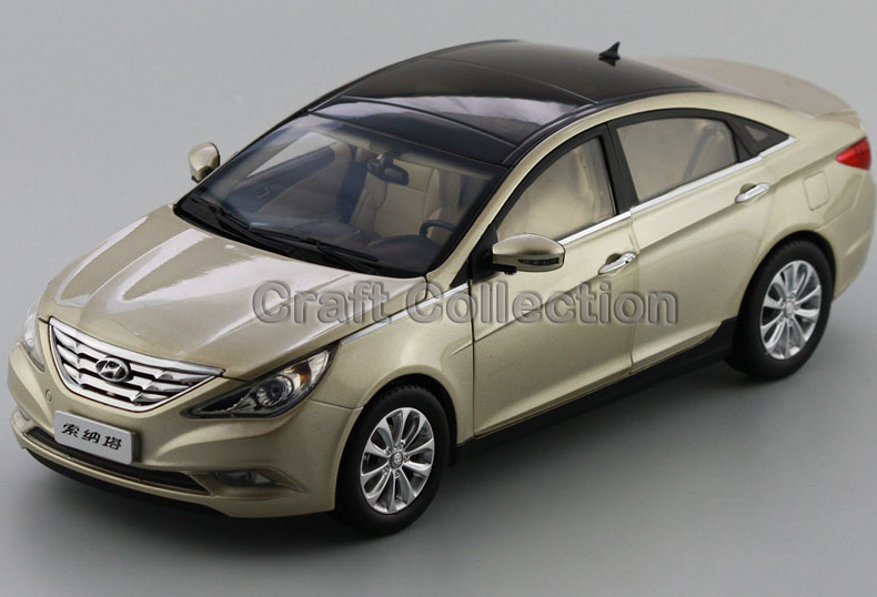 Gold 1/18 Scale Hyundai Sonata Eighth 8th Generation Die Cast Models Toy Building Vehicle Collectable Diecast