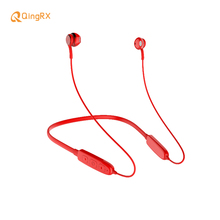 лучшая цена QINGRX BS8 Neckband Binaural Stereo Sweatproof Sports Earphone Wireless Bluetooth Headset  With Magnetic Design