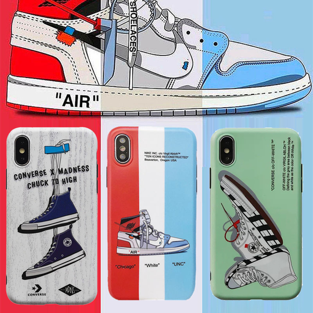 Hot Air Jordan AJ1 Ow off Suprem Soft silicone cover case for iphone 6 6S 7  7 plus 8 X XR XS MAX 10 blue white phone cases coque 6f06938db