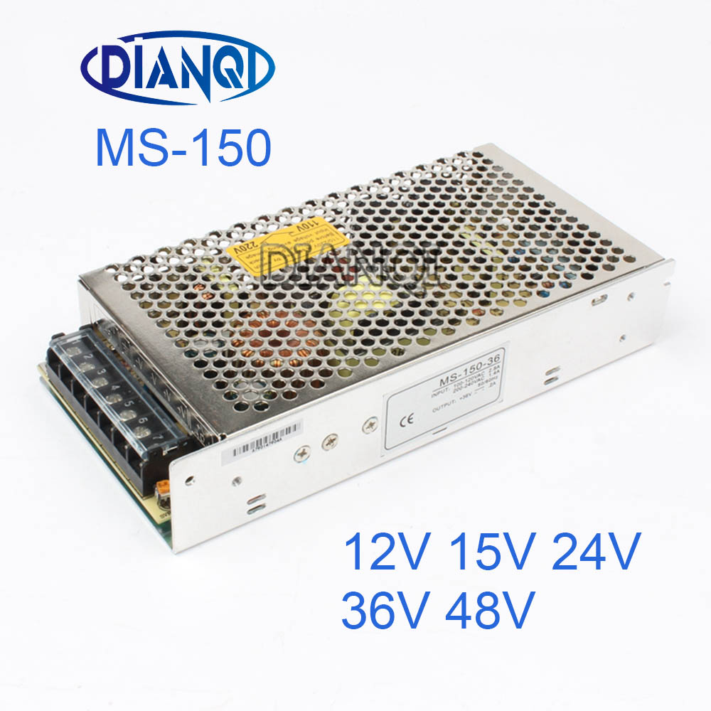 DIANQI 48V Mini Size Switching Power Supply adjustable 12V Output 150W ac to dc regulator for LED strip ms-150 15V 36V 24V h