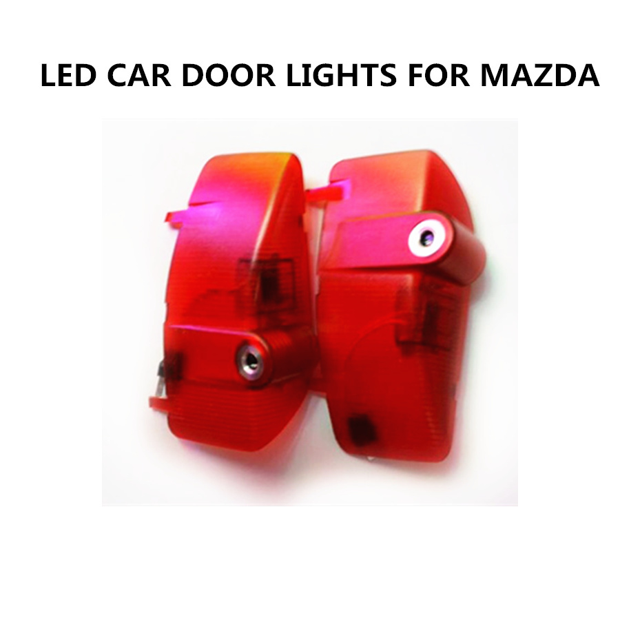 YUMSEEN 2PCS LED Car Door Lights Car welcome light LED Ghost Shadow Light For mazda 5 mazda 6 Projection lamp free shipping 2x car led laser projector welcome ghost shadow light for mazda 6 new car styling auto accessory parts