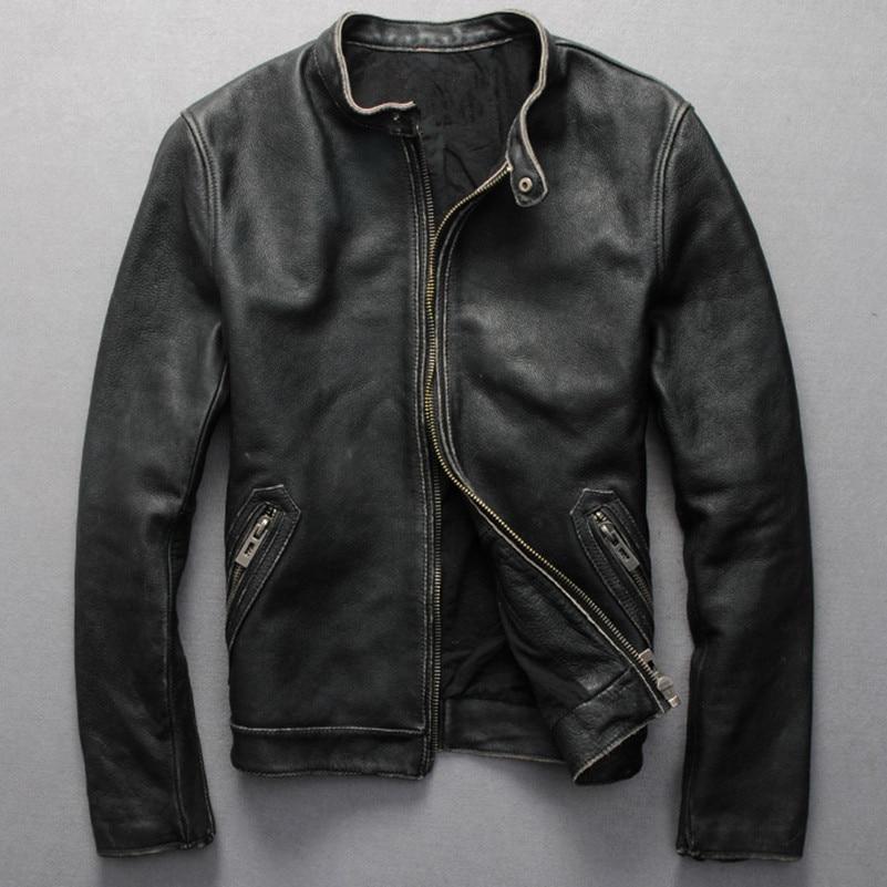 Aliexpress.com : Buy Vintage genuine leather jacket men ... - photo #27