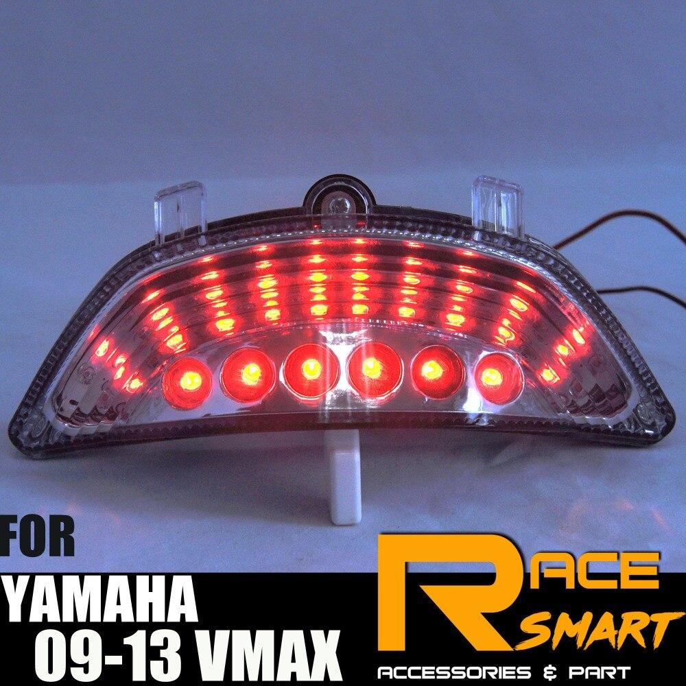 Pour YAMAHA VMAX 2009-2013 Moto LED Arrière Feu arrière Clignotant Intégré Lampe De Frein Feu Arrière 2009 2010 2011 2012 2013