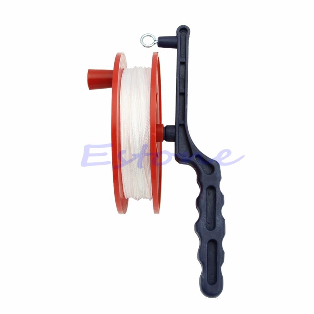 60M Reel Handle Line String Wind Ball Bearing Wheel OutdoorKite Winder Tool