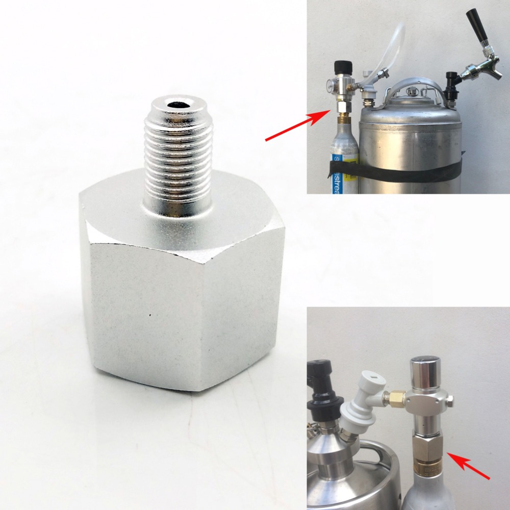 Sodastream Co2 Adapter To 3/8UNF-24 For Mini Regulator Homebrew Beer Corny Keg