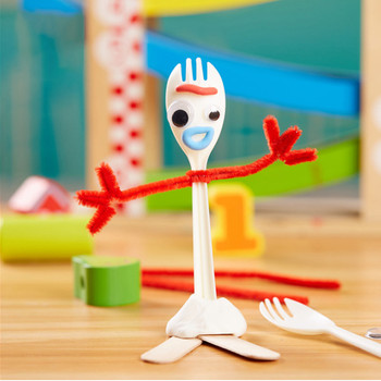 14cm DIY Fork Buzz Lightyear Toy Story 4 Cartoon Woody Jessie Slinky Dog Action figure Collection Dolls toy for children soccer balls size 4