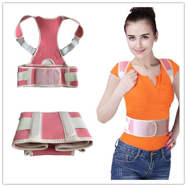 Envío libre corrector de postura espalda soporte de neopreno Neopreno back brace postura corrector dolor de espalda de apoyo
