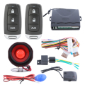 One way car alarm system auto remote lock unlock, remote trunk release and learning code method