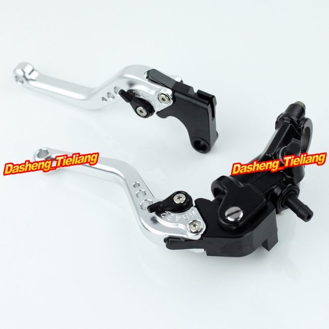 Adjustable Motorcycle Brake Clutch Levers w/ Adapter For Yamaha YZF R1 2004-2013 & YZF R6 2006-2013 Silver High Quality with logo yzf r1 black titanium adjustable folding motorcycle brake clutch levers for yamaha yzf r1 2004 2005 2006 2007 2008