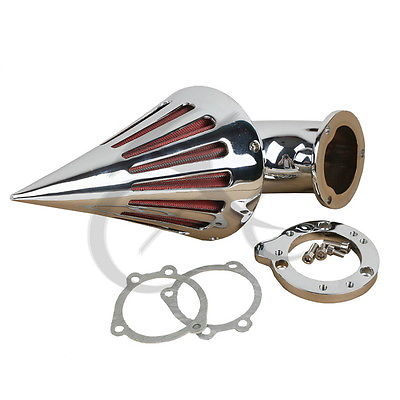 Motorcycle Spike Air Cleaner Intake Filter For Harley CV S&S Custom Sportster XL Chrome New