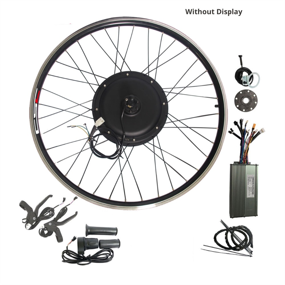 Ebike Conversion Wheel Kit 26/'/' 29 inch 48V 1500W Electric Bicycle With Battery