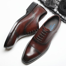 QYFCIOUFU New Handmade Men's Oxford Shoes high quality Genuine Calf Leather Wedding Shoe Male Formal Office Men's dress shoes