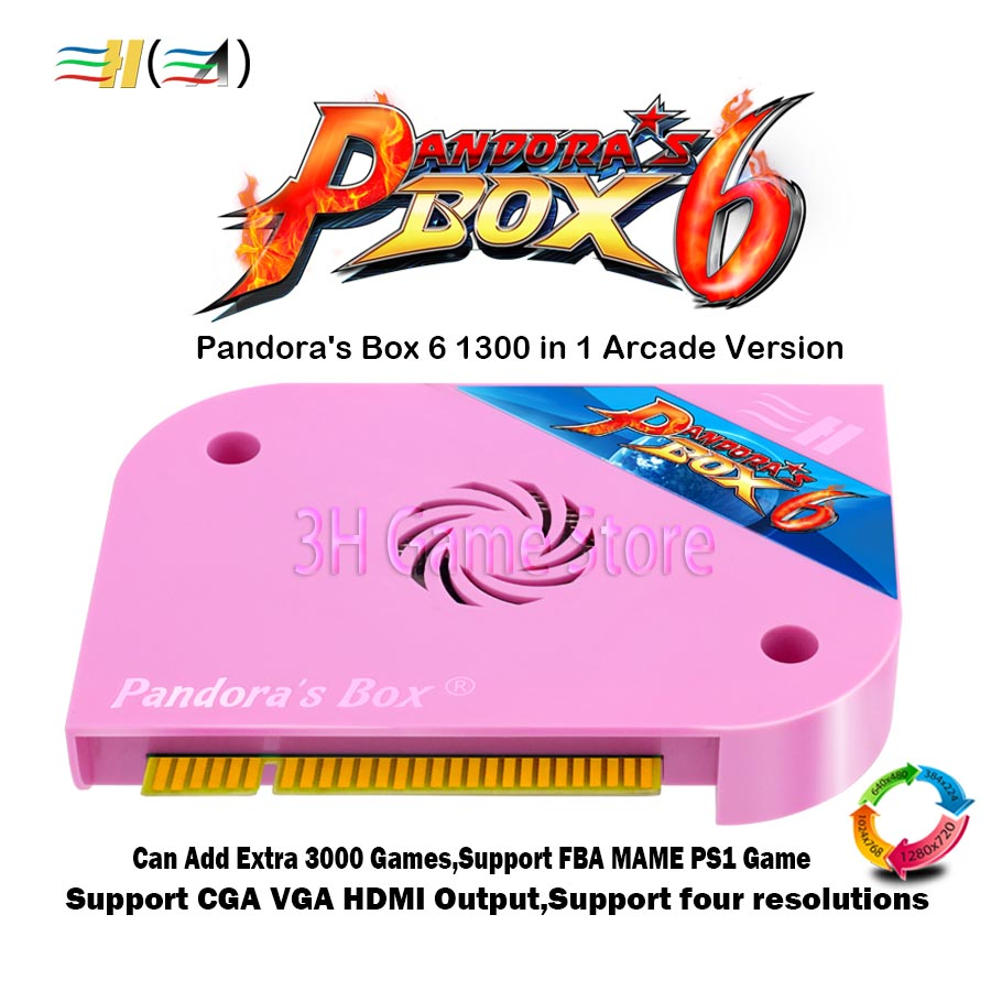 Original Pandora Box 6 1300 in 1 Arcade jamma board For arcade machine Can add extra 3000 games Support FBA MAME PS1 game tekken цены