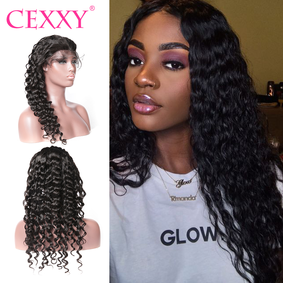 CEXXY Lace Front Human Hair Wigs Brazilian Natural Wave Wigs For Women Remy Hair Curly Lace