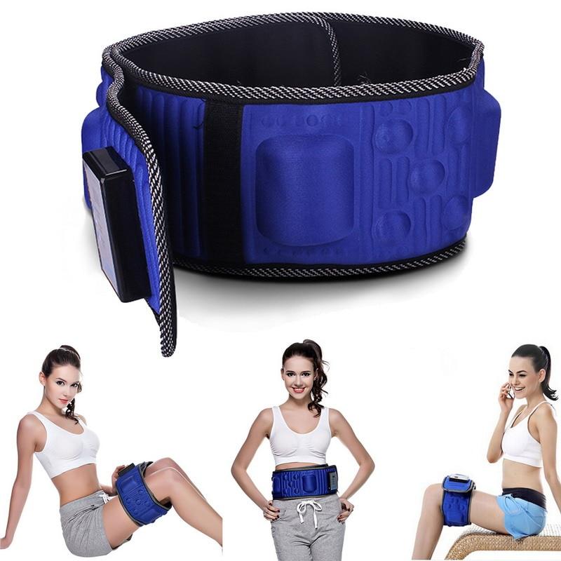 130 x 12 cm Heat Function Vibro Slimming Massage Belt Slimming Machine Electric GUB#