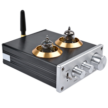 Hot TTKK Bluetooth 4.2 Buffer Hifi 6J1 Tube Preamp Amplifier Stereo Preamplifier With Treble Bass Tone Control For Home Theate m7 bluetooth 4 0 ess9023 hifi vacuum 6j1 tube pre bile audio amplifier stereo tube preamplifier with treble bass tone adjustment
