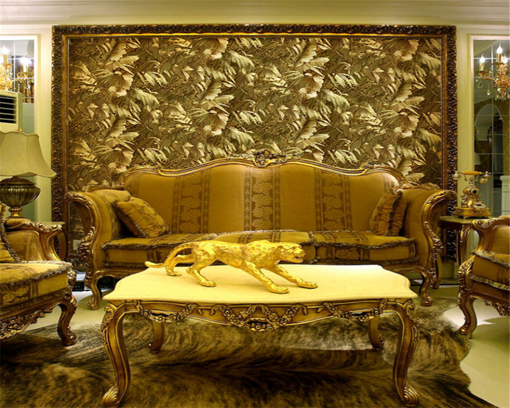 beibehang Classic fashion porch landscape painting gold foil gold hotel classical Chinese decoration papel de parede wallpaper in Wallpapers from Home Improvement