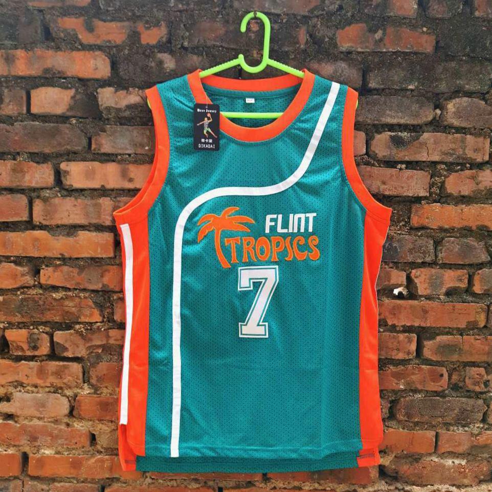 Prix pour 2017 Silex Tropiques Film #7 CAFÉ Noir Basket-Ball jersey vert hommes régression de basket-ball jersey livraison gratuite
