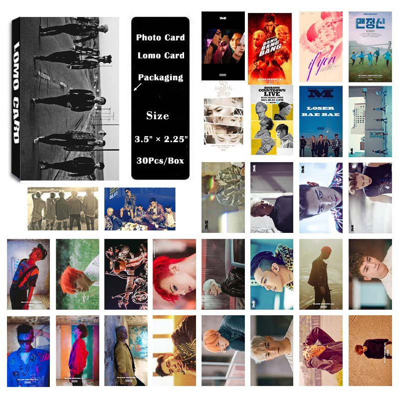 YANZIXG <font><b>KPOP</b></font> <font><b>BIGBANG</b></font> Album Self Made Paper Lomo Card Photo Card <font><b>Poster</b></font> HD Photocard Fans Gift Collection image