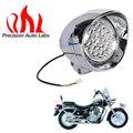 "12 v 7 ""led bala motocicleta faros de cromo luz fit harley davidson choppers para honda steed shadow yamaha kawasaki suzuki"