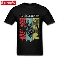 80S Vintage Fashion Game Of Thrones T Shirt Fan Movie House Stark Tee Targaryen Shirt Lannister