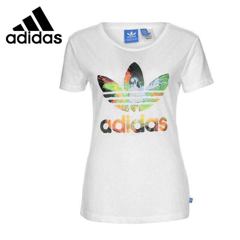 Original New Arrival  Adidas Originals Women's  T-shirts short sleeve Sportswear  цены онлайн