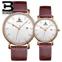 Wristwatch Binger Men Casual Watch Women Fashion Lovers Quartz Watches New Luxurious High end Business Watch relogio masculino