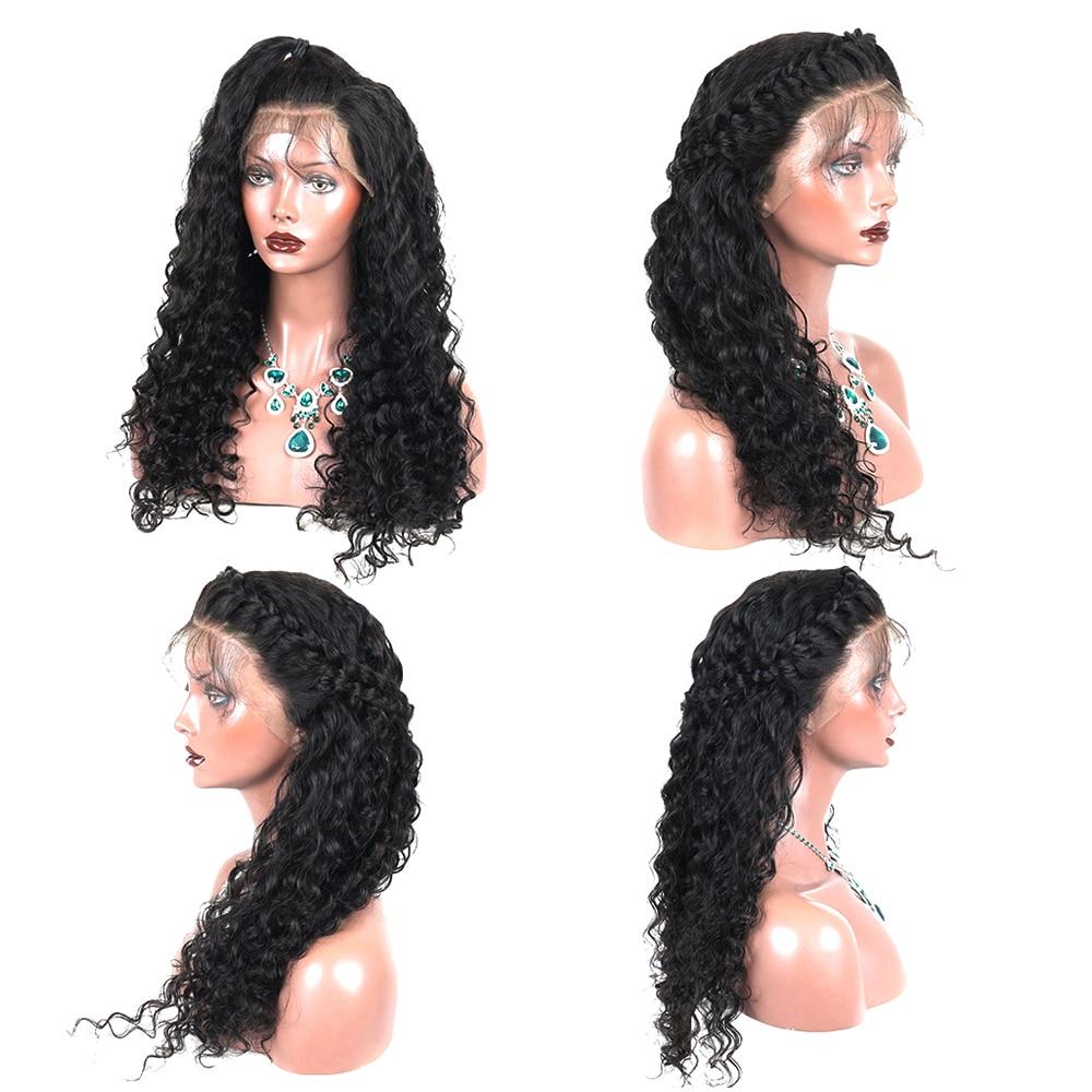 250% ohlapne čipke sprednje lasulje las las naravne črne 13x4 - Človeški lasje (za črne) - Fotografija 5