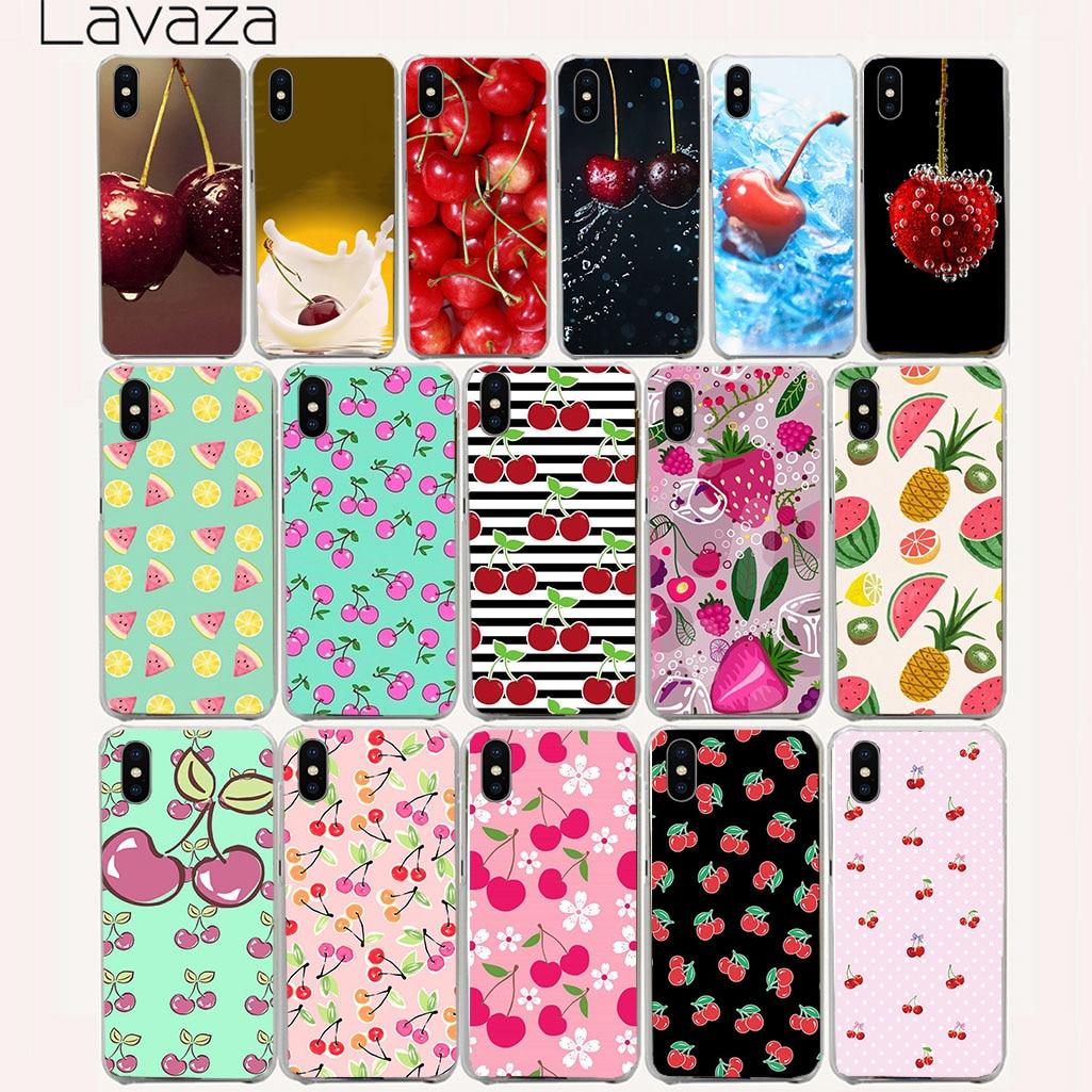 Lavaza 124aa Fruit Ceri Keras untuk iPhone 8X7 7 Plus 4 S 10 5 S 5c Se 6 6 S  PLUS 184d16226d