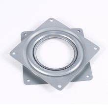 4 Inch Square Rotating Swivel Plate Replacement Metal Lazy Susan Bearing Turntable TV Rack Desk Seat Swivel Plate Bar Tool(China)