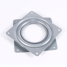 4 Inch Square Rotating Swivel Plate Replacement Metal Lazy Susan Bearing Turntable TV Rack Desk Seat Swivel Plate Turntable