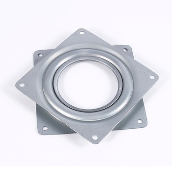 4 Inch Square Rotating Swivel Plate Replacement Metal Lazy Susan Bearing Turntable TV Rack Desk Seat Bar Tool - discount item  29% OFF Furniture Parts