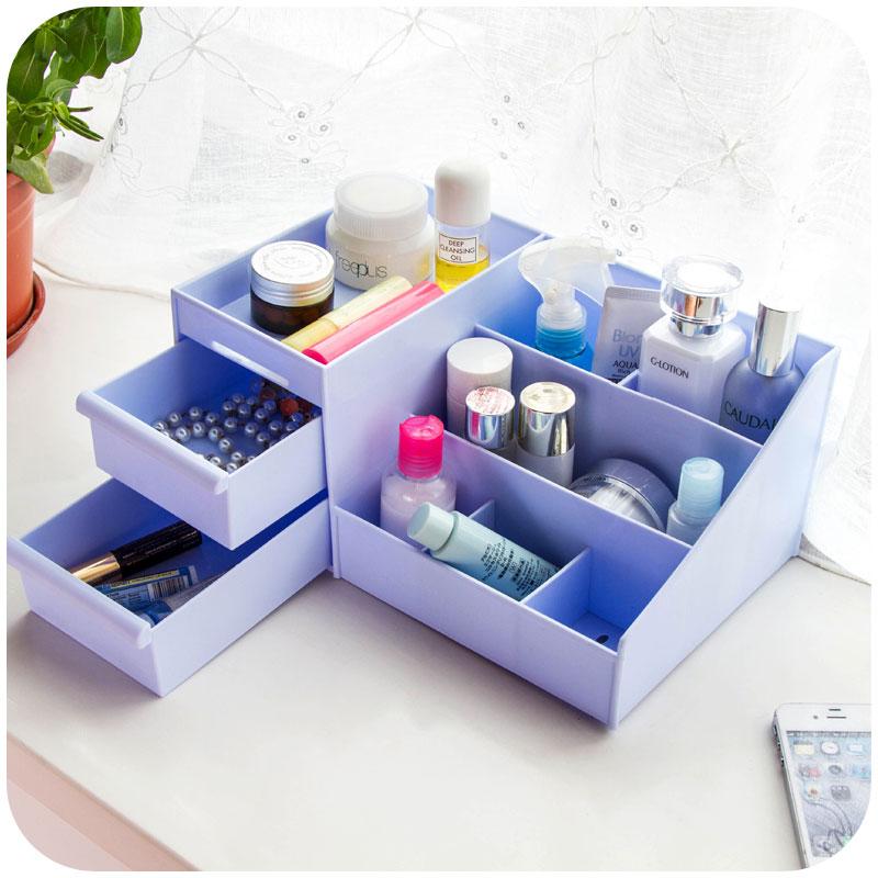 Home Decor Storage Boxes: Multifunction Plastic Drawer Type Storage Box Jewelry