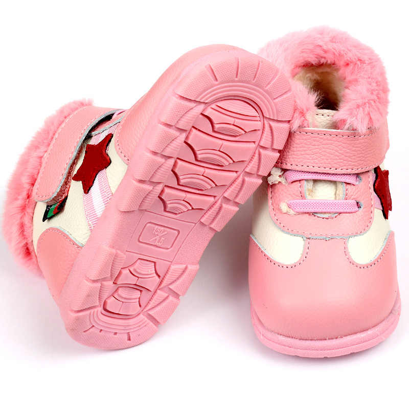 210d5acff3f ... Baby Boots for Girl Snow Boots Leather Baby Shoes Winter Baby Boots Boys  Infant Shoes Kids ...