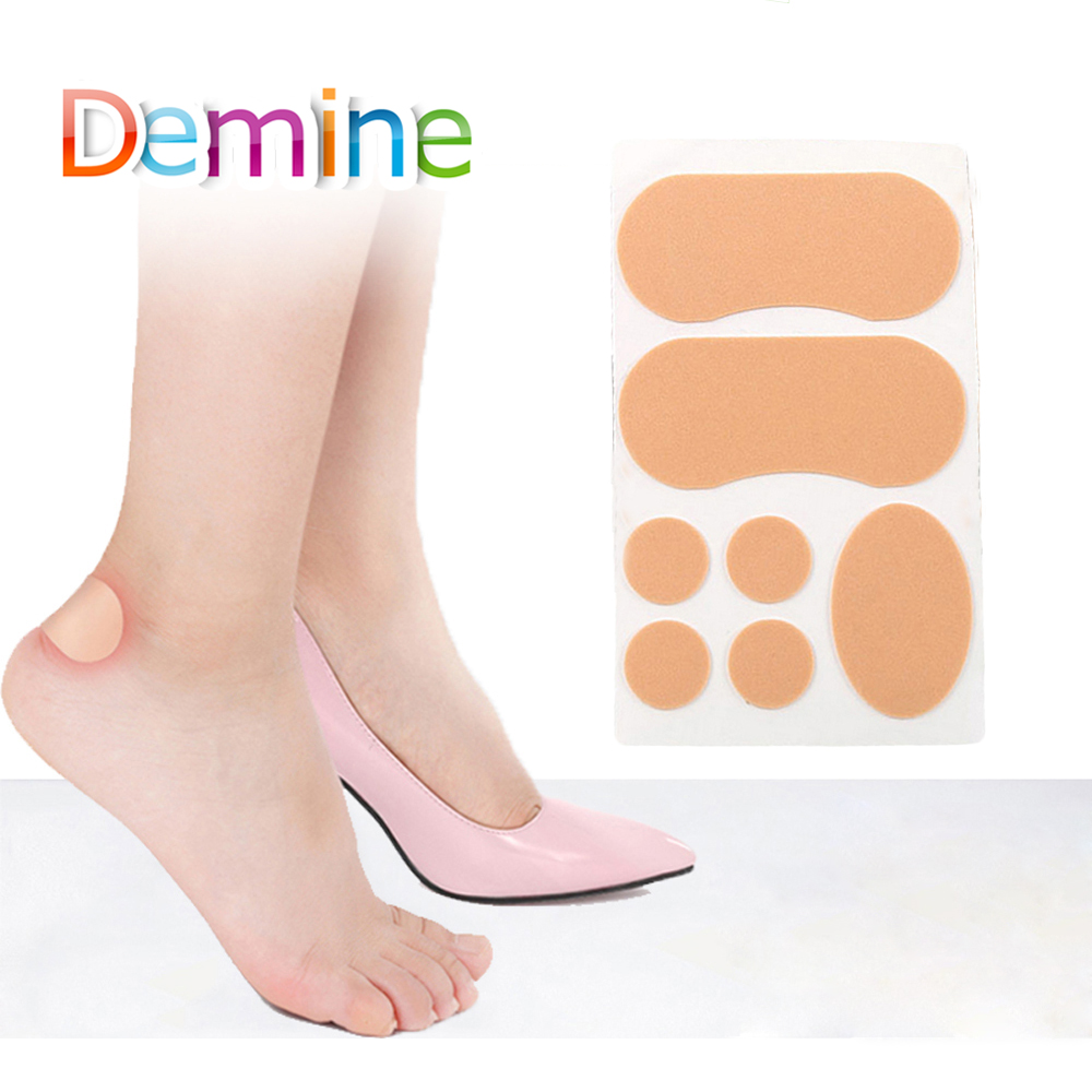 7Pcs רפואי תירס שלפוחיות מדבקות עבור רגל הבהונות העקב למנוע שחיקה רגליים כריות מיידי רפידות טיח תיקוני מוסיף