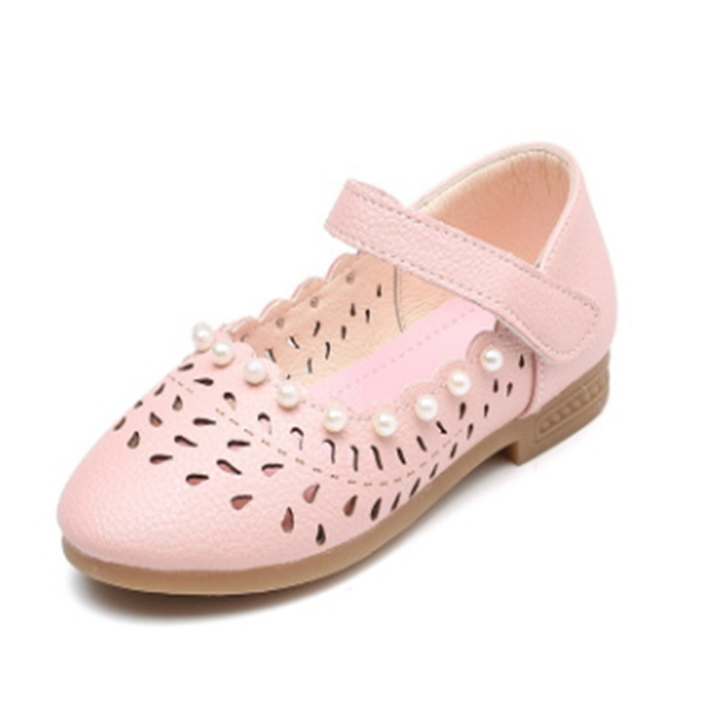 Zapatos de princesa para niñas zapatos para niños 2018 zapatos de perlas de primavera y otoño tamaño 20-37