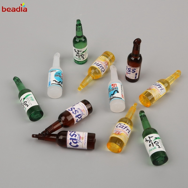 Lovely Plastic Mini Wine Bottle Pendant Charm Handmade Hanging Crafts Accessories Jewelry Making Findings For Earrings