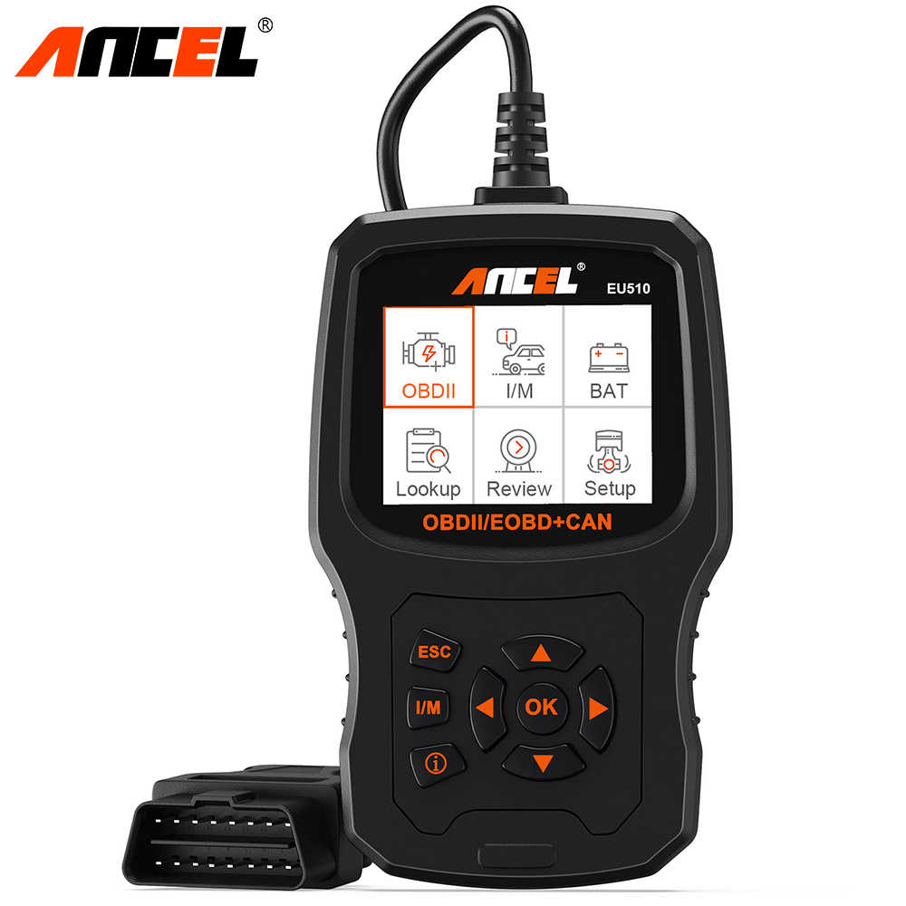 Ancel EU510 OBD2 Scanner Voor Citroen Peugeot Renault 15 Taal Engine Code Reader Obd ODB2 Automotive Auto Diagnostic Tool