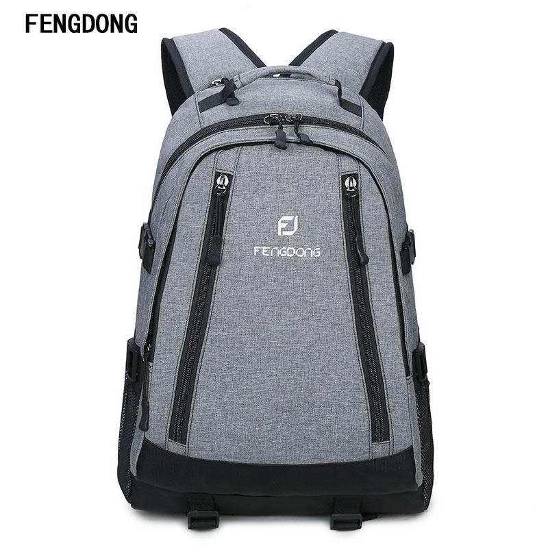Fengdong Water Resistant Computer Backpacks Lightweight Slim Business Laptop Backpack for Men 17 Inch Traveling Bags